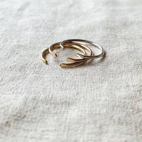cinq / Clean  ring  / silver / rose gold filled
