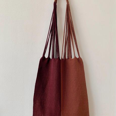 pips / cotton handwoven hammock bag / rust x brown