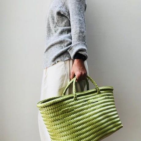 Cilantron / nylon mercado bag  / Blue  / Lime  / シラントロン / メルカドバッグ /