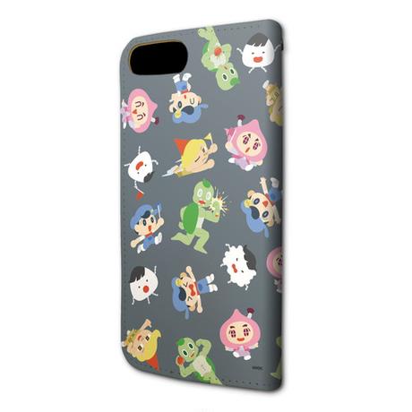 手帳型スマホケース(iPhone6/6s/7/8兼用)(EDイラスト・グレー)