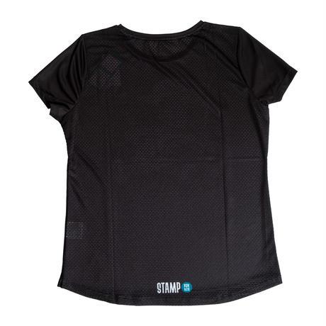 【STAMP】WOMENS GRAPHIC RUN TEE (Run Stampy Run!)(Black)
