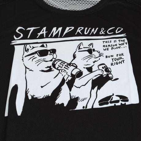 【STAMP】GRAPHIC TANK (TWO CATS)