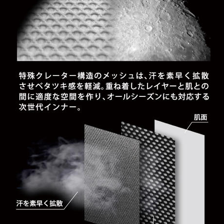 【ATION】CRATER MESH PANTS LONG クレーターメッシュパンツ9分丈