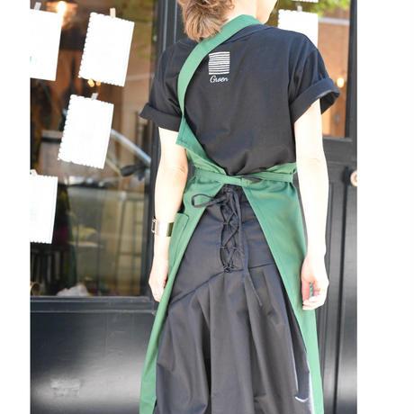 Groen one shoulder apron