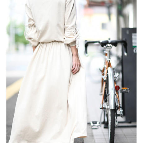 gather cut and sew maxi one-piece