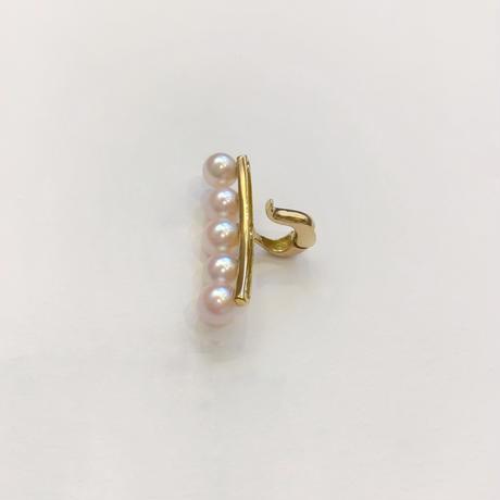 K18イエローゴールド 真珠 イヤーカフ