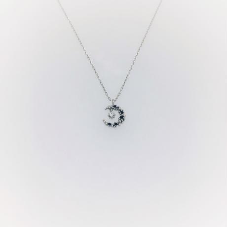 et toi  (エトワ)      K18  ホワイトゴールドネックレス  ダイヤ    ブラックダイヤ