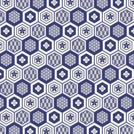 単品A3 家紋(藍)