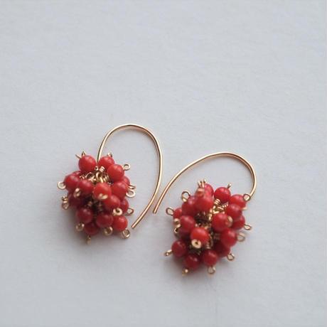 赤珊瑚のピアス