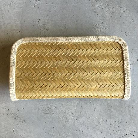 青竹財布/大/三本寄せ網代編み