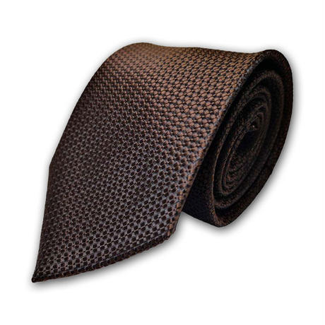 西陣織ネクタイ 茶色 格子(商品番号:051019)