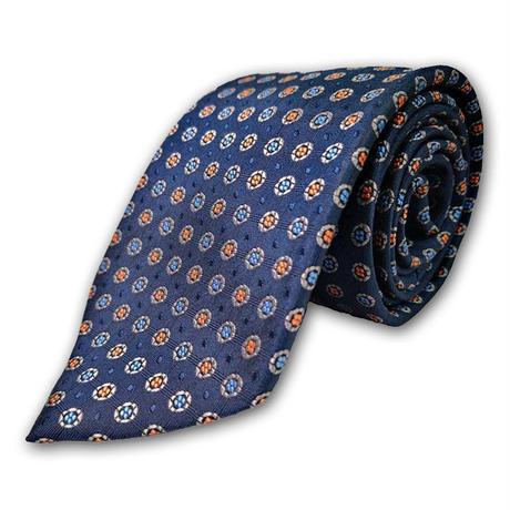 西陣織ネクタイ 紺 水玉(商品番号:050818)
