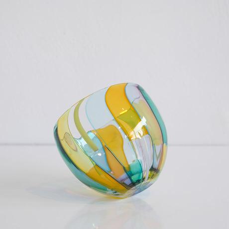 石山瞳/パッチワークグラス(丸)  (ISHI-15)