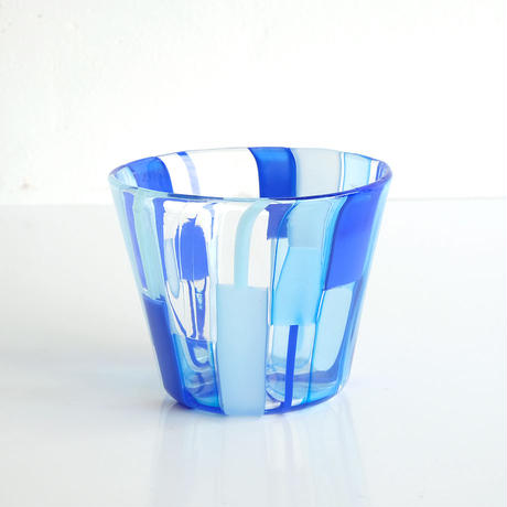石山瞳/パッチワークグラス Blue  (ISHI-01)