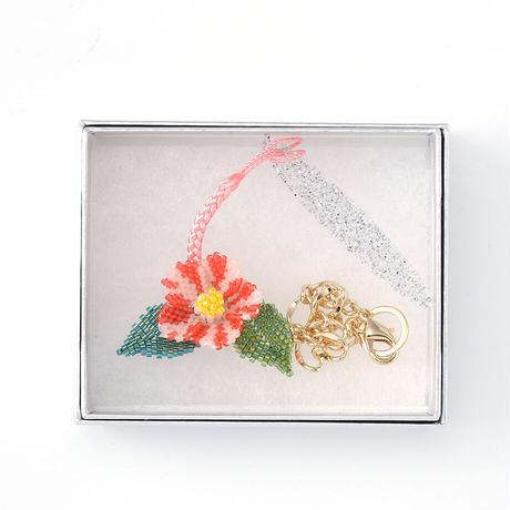 中村夏子/ピンク斑入り椿/帯飾り(NAKA06_01)