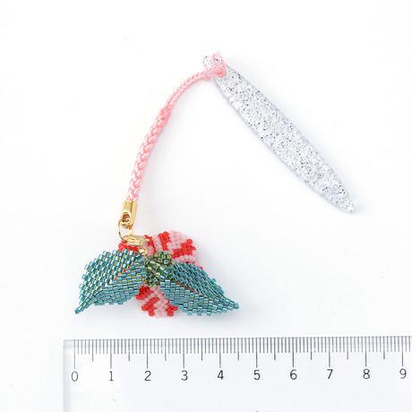 中村夏子/赤斑入り椿/帯飾り(NAKA06_02)