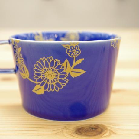 Ex コーヒーカップ青釉(取手有り)