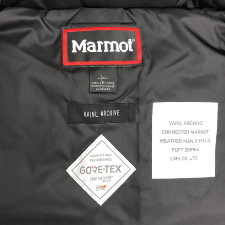 "VAINL ARCHIVE connected MARMOT 19model ""PUFF HOODY"" GMT"