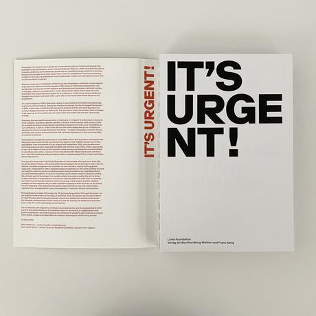 "Hans Ulrich Obrist ""IT'S URGENT! A LUMA PROJECT CURATED"""