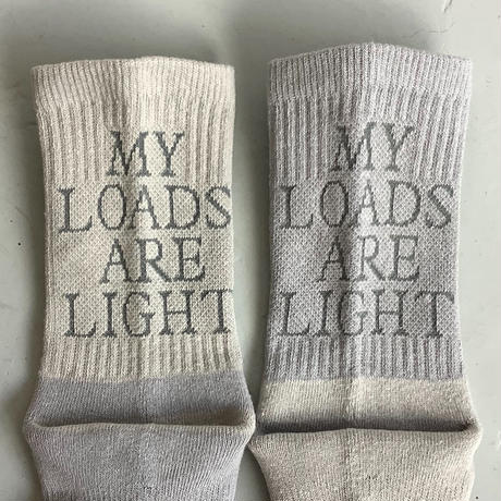 "MY LOADS ARE LIGHT ""Lettered""sox"