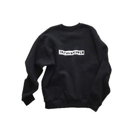 SALT AND PEPPER Sweatshirt / Black
