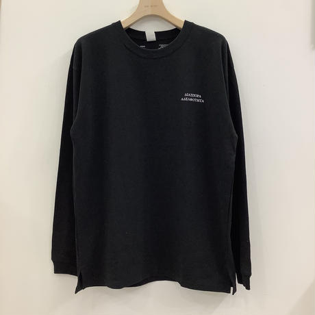 SALT AND PEPPER ×Diaspora Skateboards L/S Tee BLACK