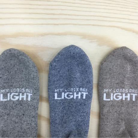 MY LOADS ARE LIGHT ANKLE SOX Heather Denim