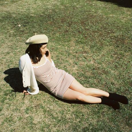 【BRIXTON WOMENS】CARLOTTA DRESS /ボーダーキャミワンピ/ COLOR:DOVE