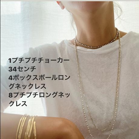 8【予約販売】プチプチロングネックレス