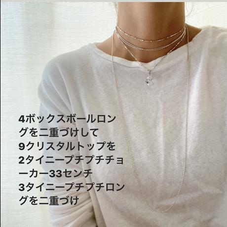 3 【予約販売】タイニープチプチロングネックレス
