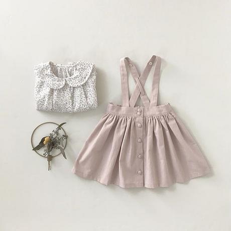 2wayスカート グレイッシュピンク