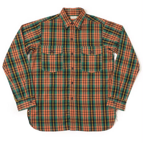 WAREHOUSE Lot 3022 FLANNEL SHIRTS WITH CHINSTRAP NON WASH