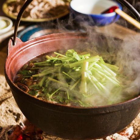 【美味山菜 セット】 月山山菜そば2人前と生の山菜天ぷら&おひたしのセット