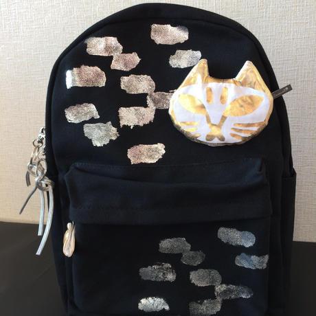 猫のリュックブラック