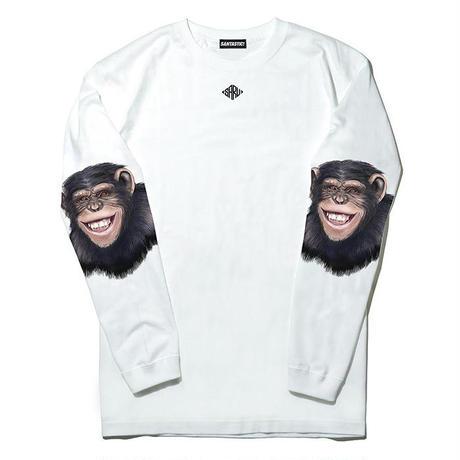 チンパンジースリーブ L/S Tee[WHITE]