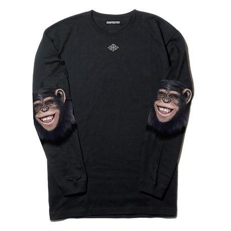 チンパンジースリーブ L/S Tee[BLACK]