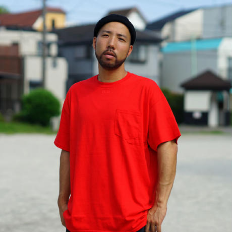 NECK BOX SARU Tee[RED]