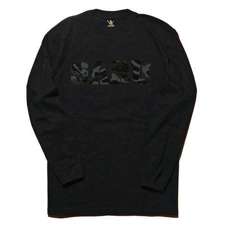 BLACK CAMO SARU L/S Tee[BLACK]