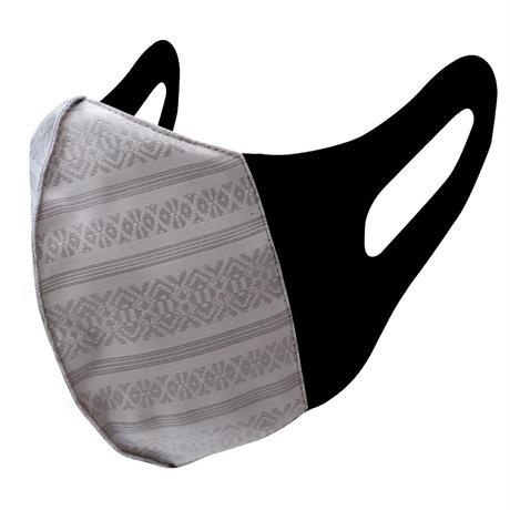 博多織立体型エチケットマスク『kurusyu~nai』 献上 NO.30「グレー」