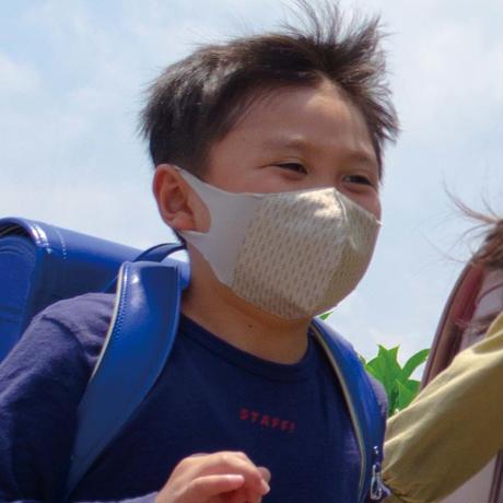 博多織立体型エチケットマスク『kurusyu~nai』 麻の葉 NO.17「ベージュ」