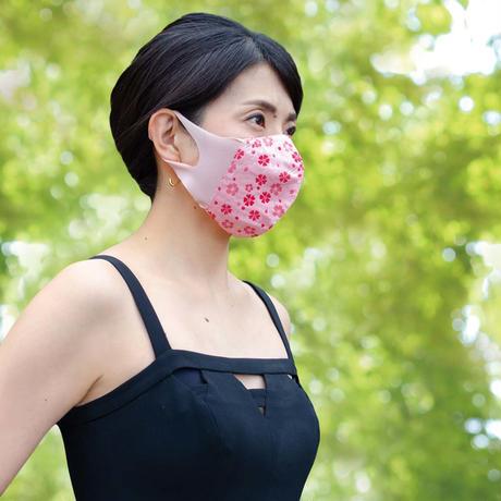 博多織立体型エチケットマスク『kurusyu~nai』 桜 NO.14「ピンク×レッド」