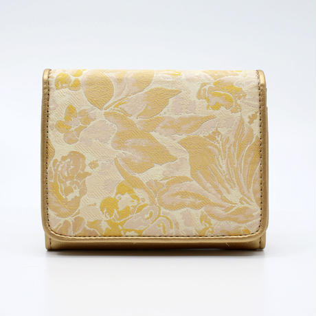 二つ折り財布(フローラル柄)