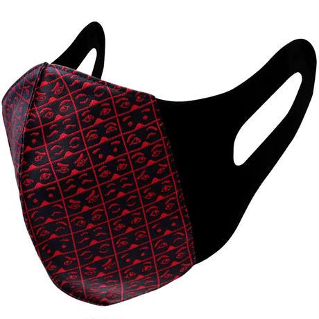 博多織立体型エチケットマスク『kurusyu~nai』 にわか NO.9「ブラック×レッド」