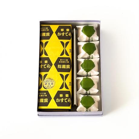 茶つぼしるこ5個+蜂蜜かすてら1斤セット