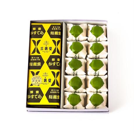 茶つぼしるこ10個+蜂蜜かすてら1斤セット