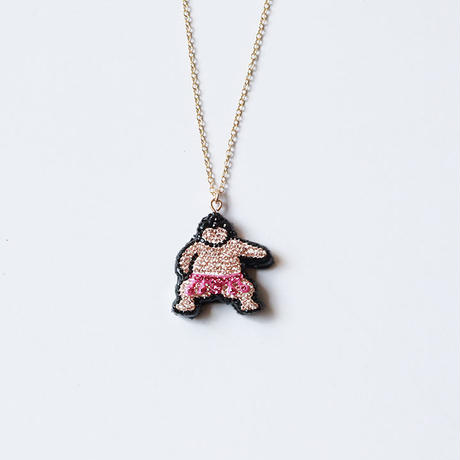 【PP3'】お相撲さんのネックレス_ぴんく