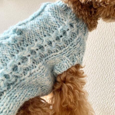 【Pattern】Sapo's Aran Dog Sweater