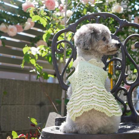 【編み図】レース糸で編むフリルスカートワンピース