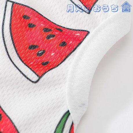 ペット服 犬服 春夏 Tシャツ  スイカ かわいい