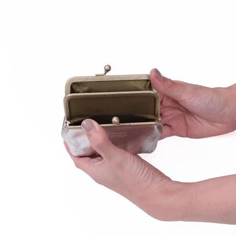 がま口財布 SILVER(エコムラレス)